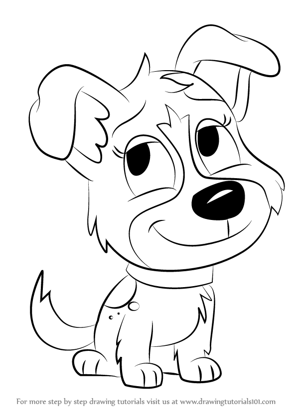 Drawn puppy puppie How To To 06 Coloring