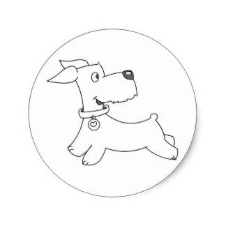 Drawn puppy puppy love Round Dog Gifts sticker love