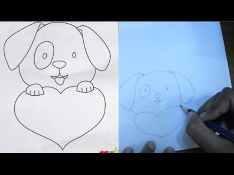 Drawn puppy puppy love Step drawing a  How