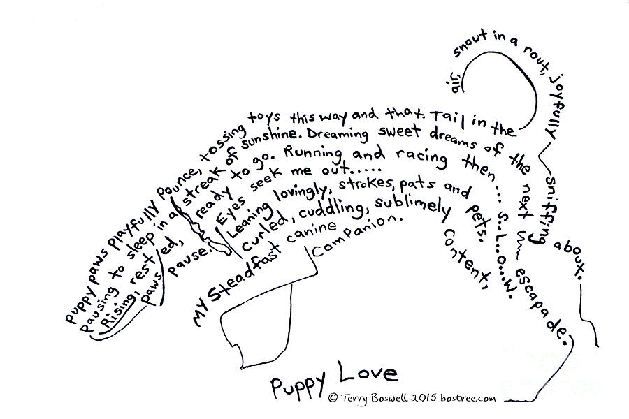 Drawn puppy puppy love Terry Love Boswell Love by