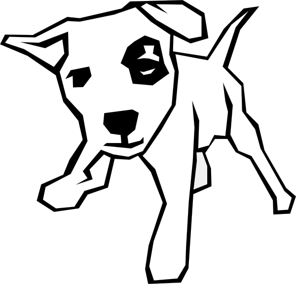Drawn puppy simple Vector Art at Drawing online