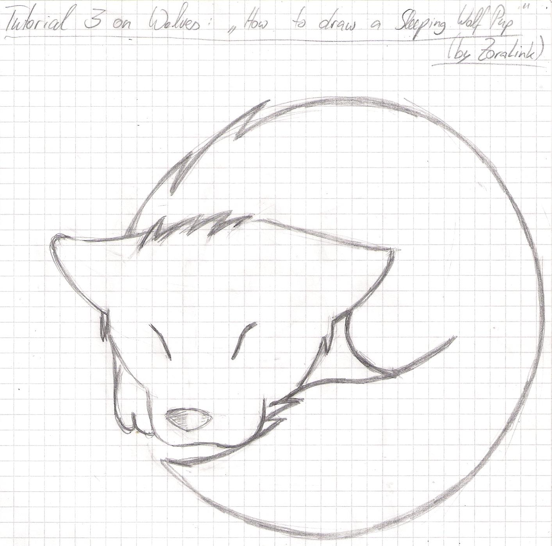 Drawn puppy sleeping © Draw Anime Sleeping