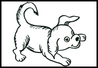 Drawn puppy small Dogs How Draw : Step