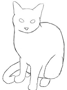 Drawn puppy small A How Draw  Cat