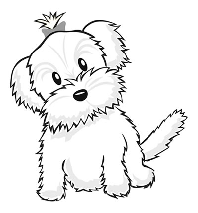 Drawn puppy small dog Yorkie+Coloring+Pages pages book Color Puppy!
