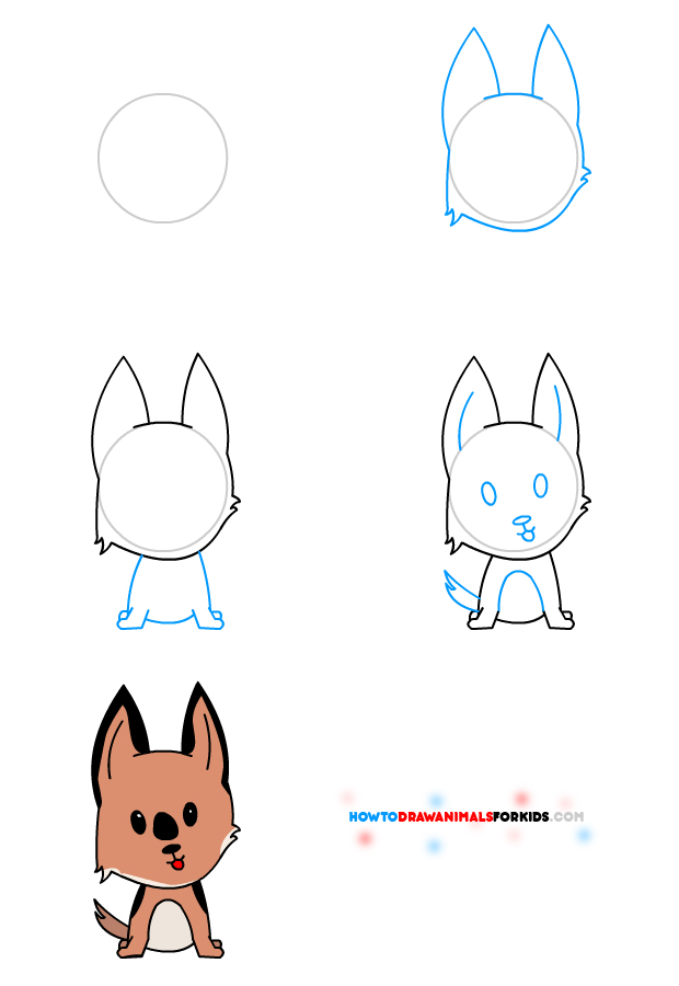 Drawn puppy step by step Dr to Odd a How