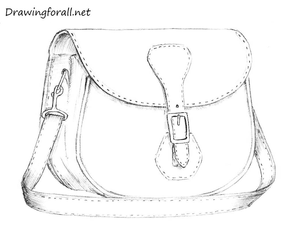 Drawn purse Bag net pencil to Bag