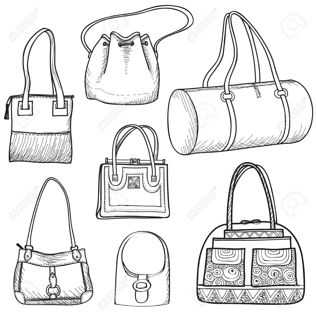 Drawn purse Http://previews 123rf 123rf  com/images/terriana/terriana1402/