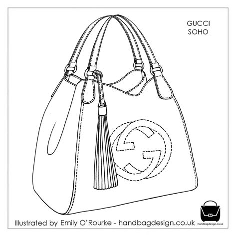 Drawn purse GUCCI Borsa Drawing SOHO Handbag