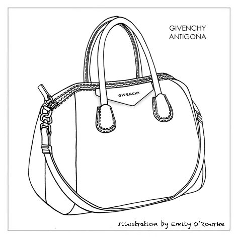 Drawn purse GIVENCHY Borsa Drawing ANTIGONA Handbag