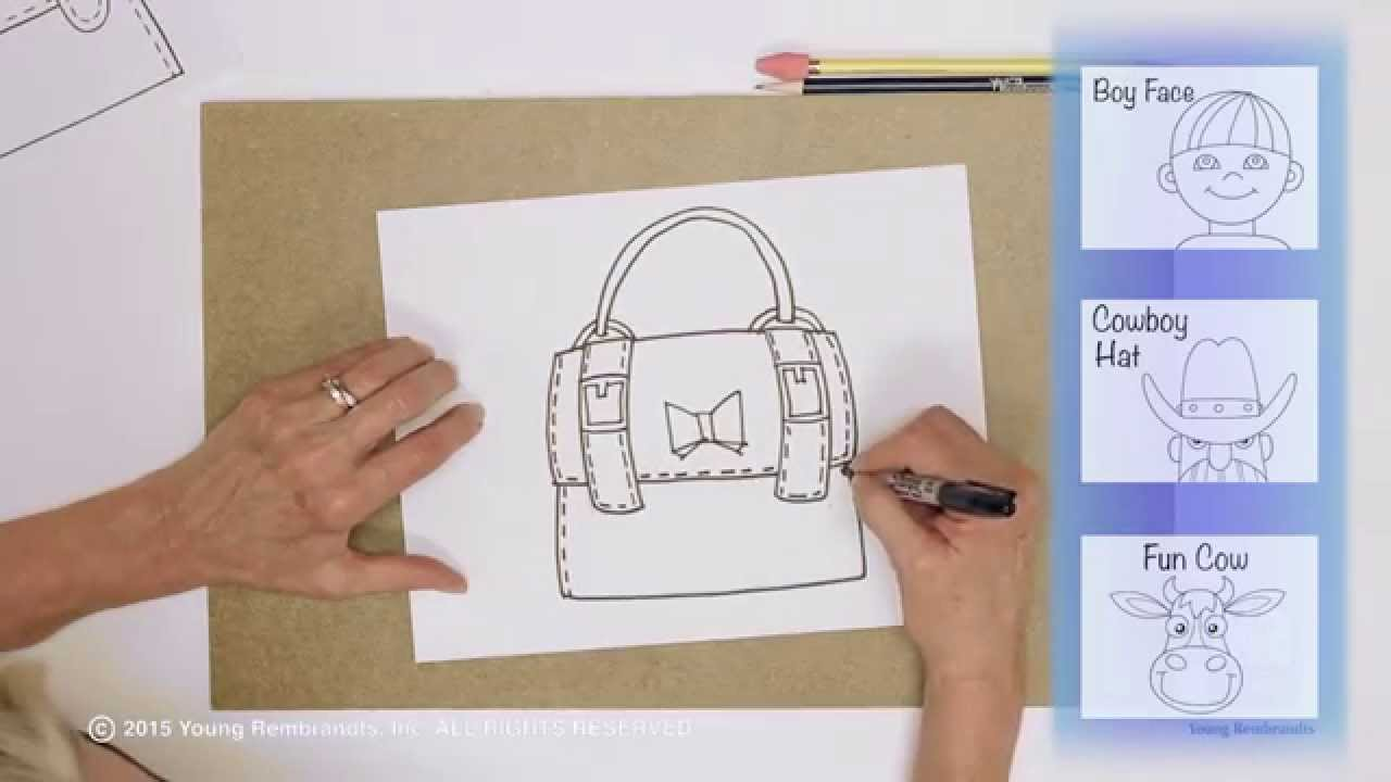 Drawn purse cartoon How YouTube How Kids How
