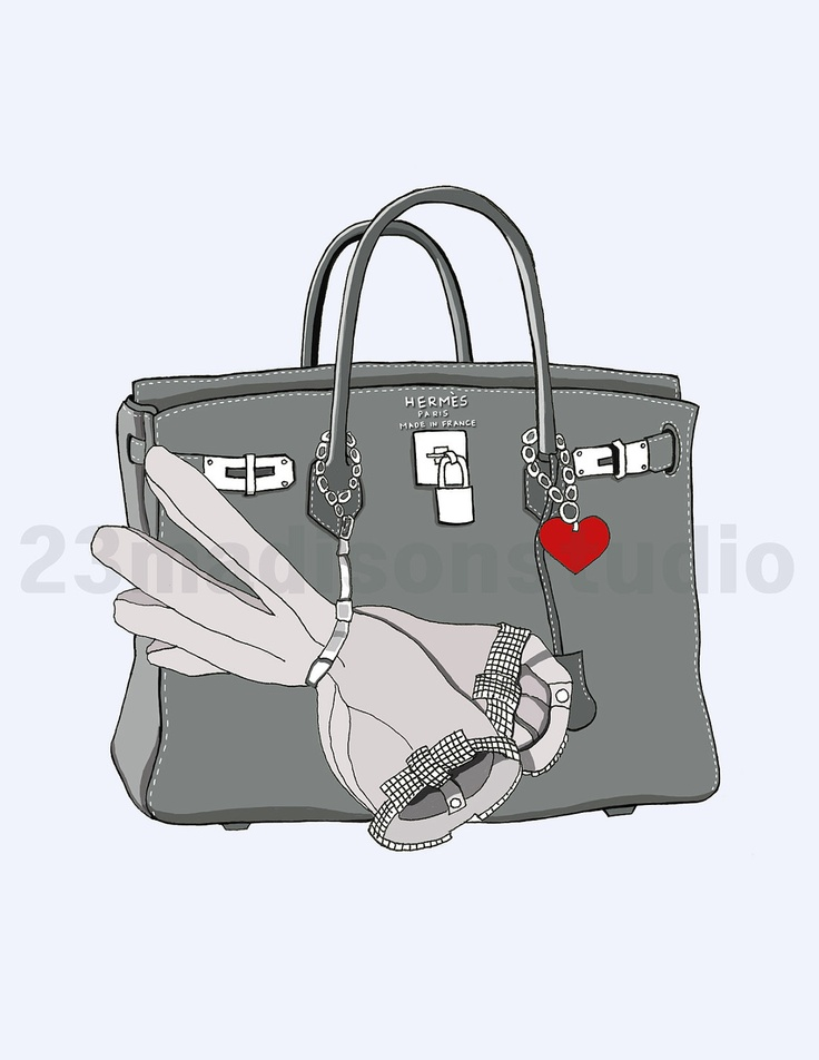 Drawn purse cartoon Ideas $15 Hermes Stationery on