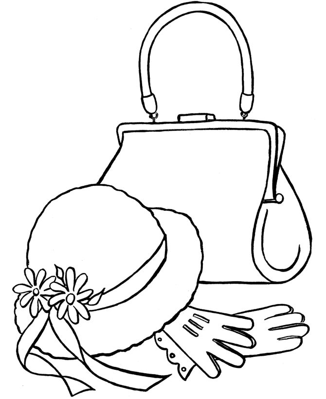 Drawn purse coloring Coloring Best you Easter to