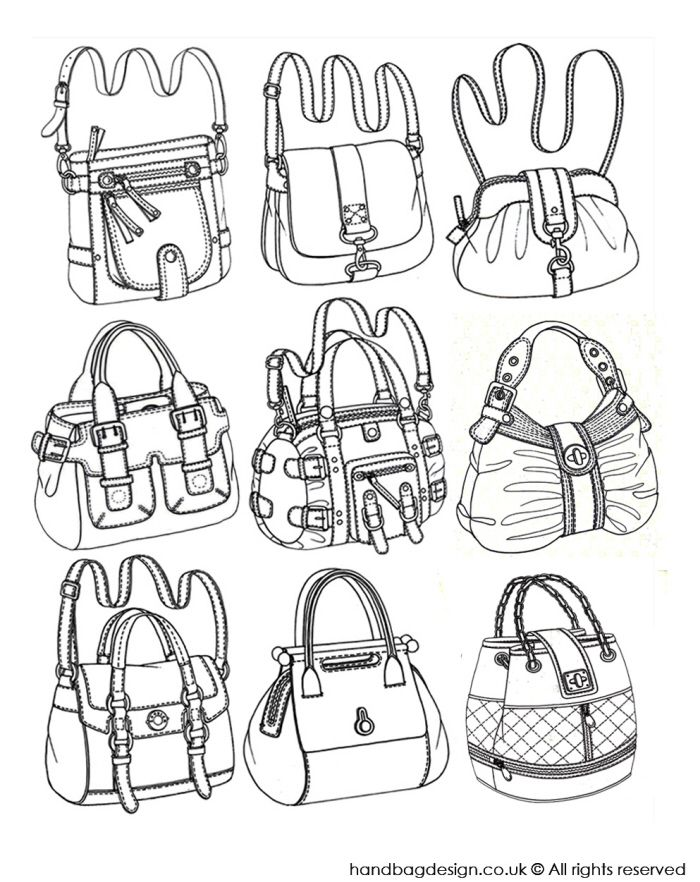 Drawn purse coloring 33 sketches design Bag images