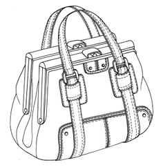 Drawn purse coloring By drawing / framed O'Rourke