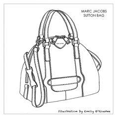 Drawn purse designer bag Illustration Sketch / / Illustration