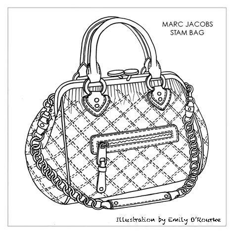 Drawn purse designer bag Designer HANDBAGS DESIGNER / ICONIC