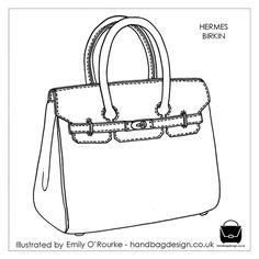 Drawn purse designer bag / / drawing Drawing sketch