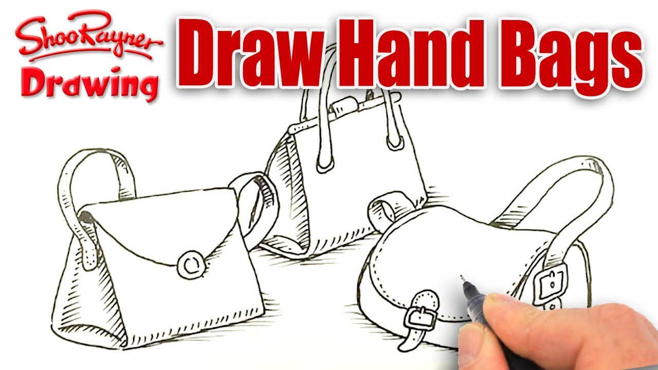 Drawn purse line drawing To handbags! draw How YouTube
