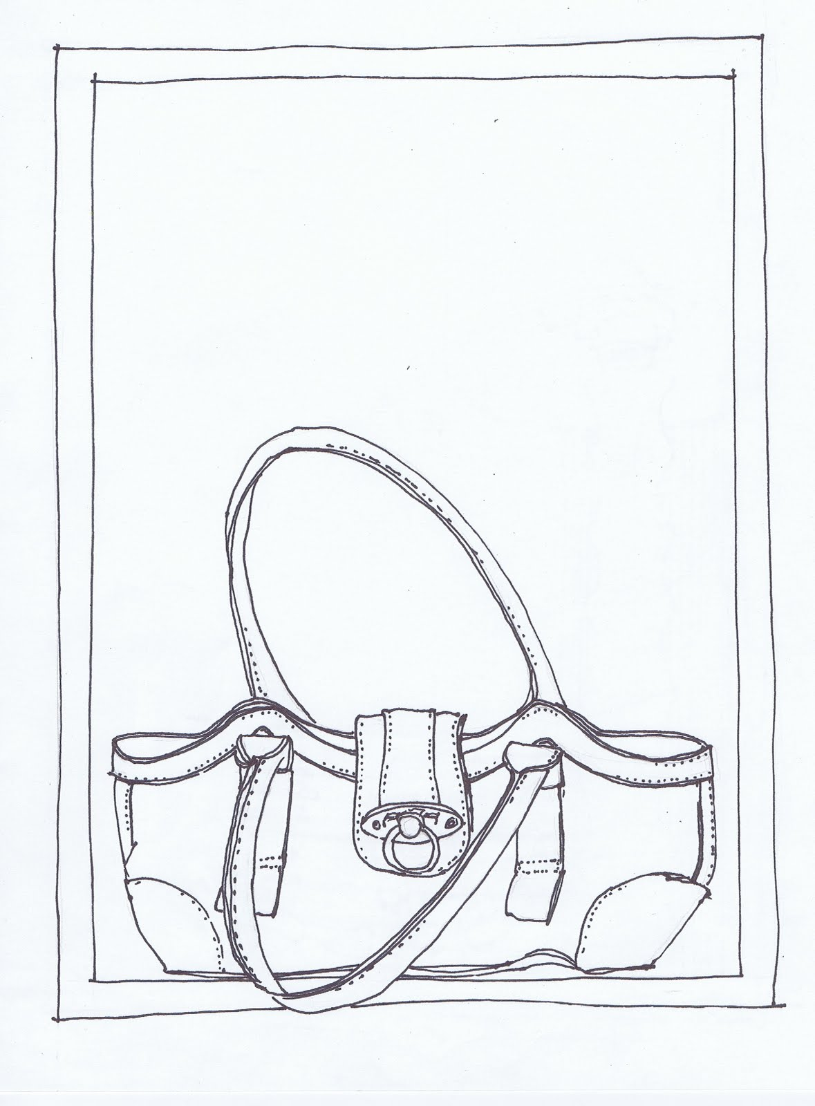 Drawn purse line drawing To bags I Day Draw