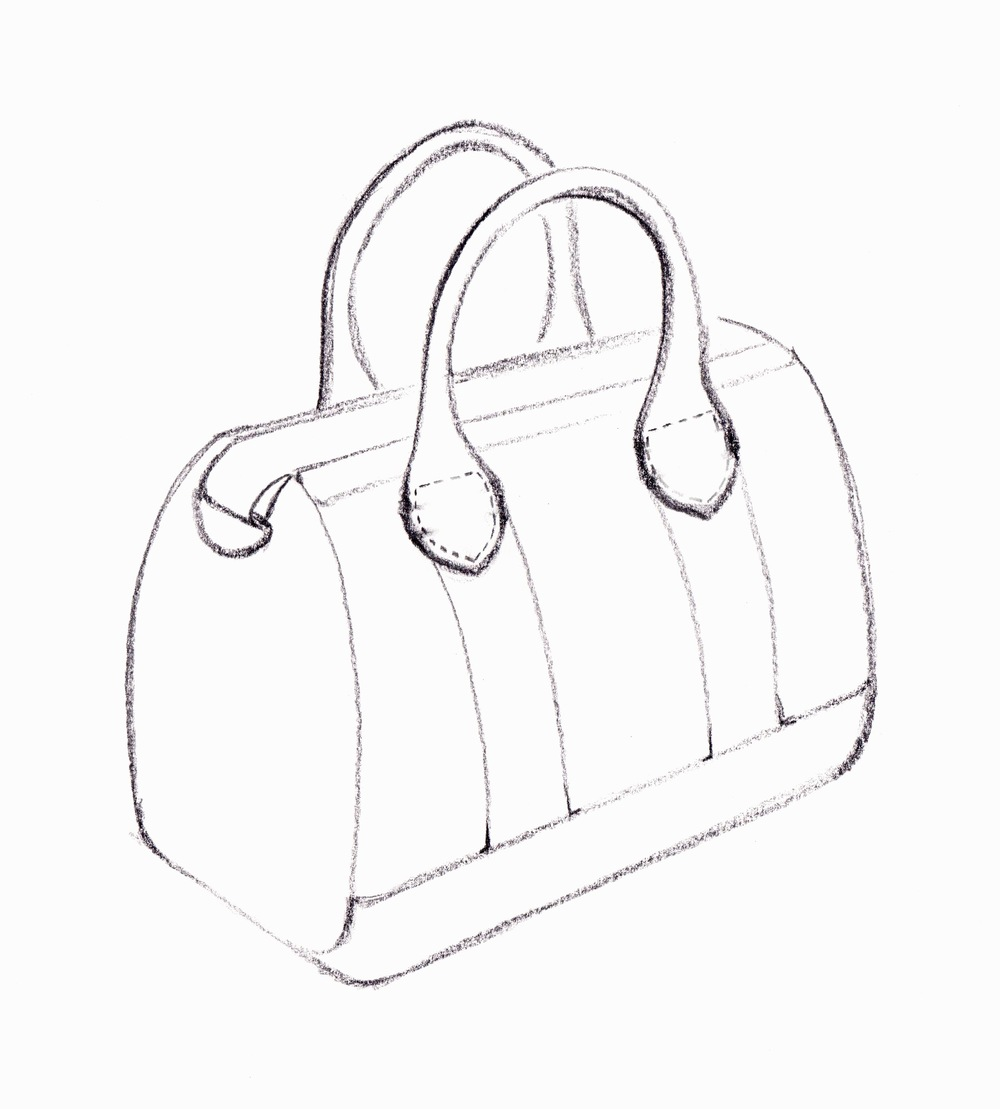 Drawn purse line drawing Handbag by Draw Pop drawing