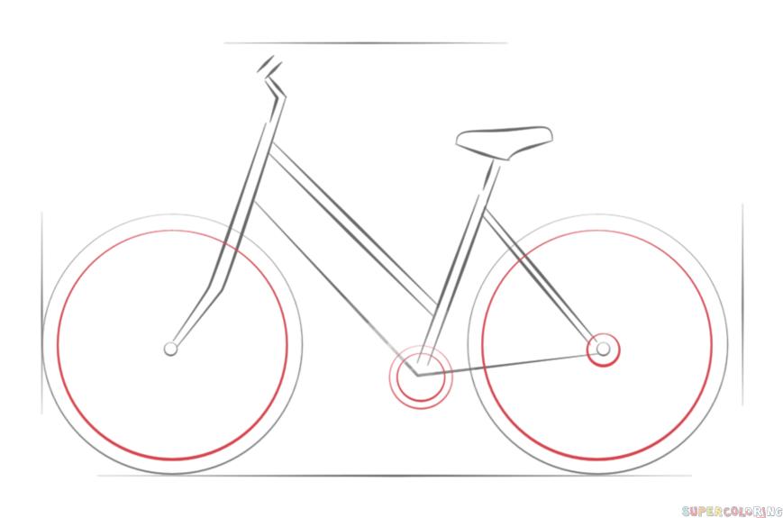 Drawn pushbike 4 Step tutorials draw by