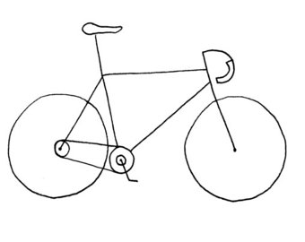 Drawn pushbike Bicycle 6x Etsy / Birthday)