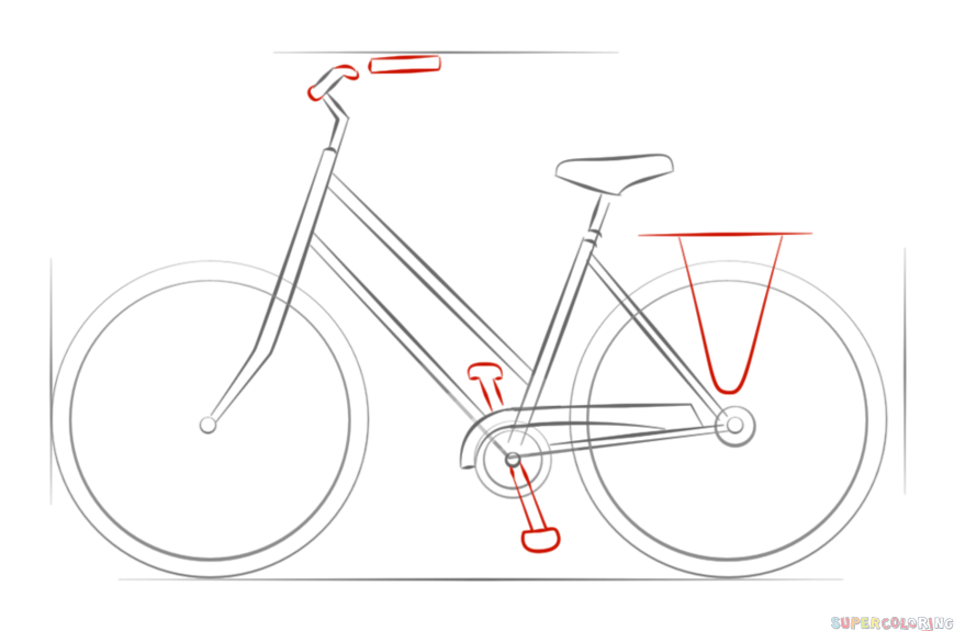 Drawn pushbike 6 Step tutorials draw by