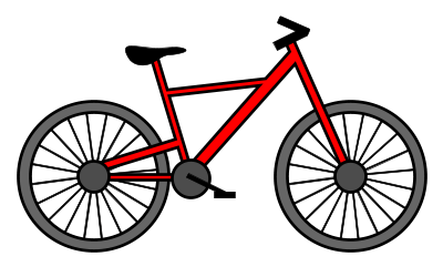 Drawn pushbike animated Bicycle Food to draw a