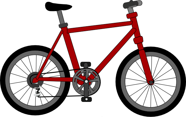 Drawn pushbike animated Com Bicycle Clker this image