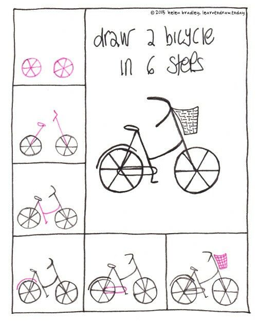 Drawn bike funny · Best Simple ideas doodles