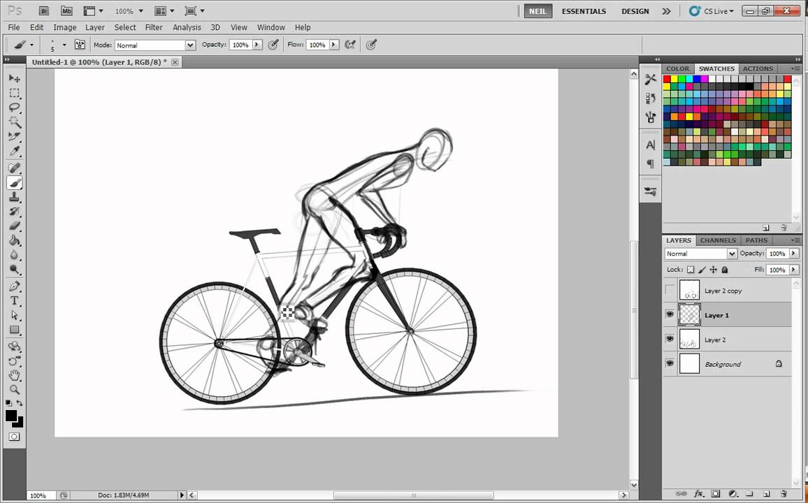 Drawn bike bike riding People to bikes to How