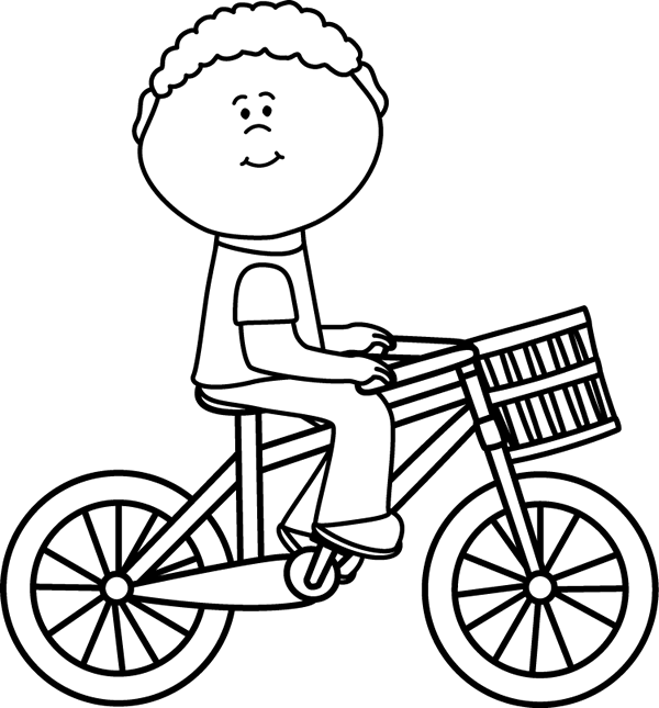 Ride clipart black and white Basket Boy Clip & Boy