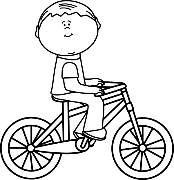Bike clipart black and white Bicycle Bicycle a White Riding