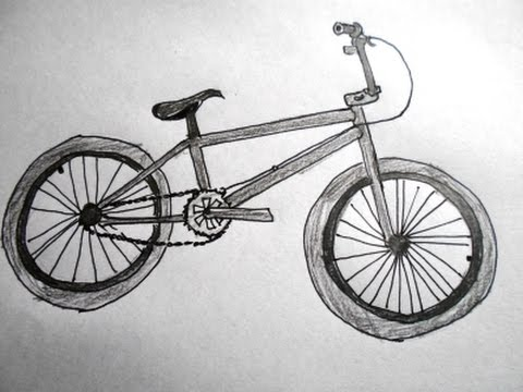 Drawn bike bicycle A Bicycle: a kids for