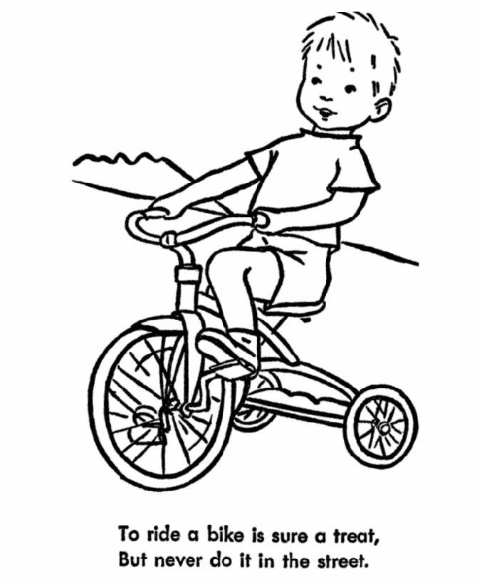Drawn bike coloring page #9