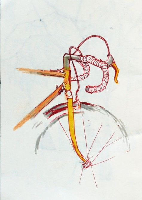 Drawn bike creative #1