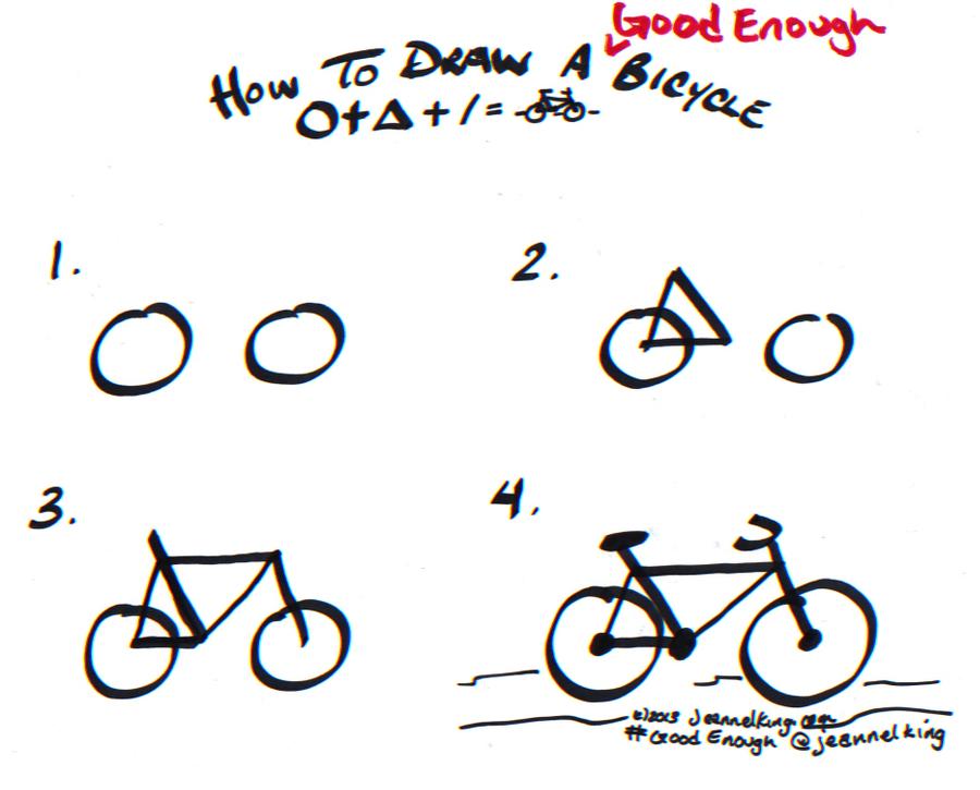 Drawn bike easy By Enough Good Dibujos How