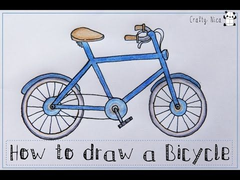 Drawn pushbike easy 25+ for ideas Bicycle on