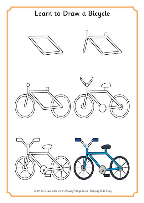 Drawn pushbike easy Draw Bike Page Bicycle A