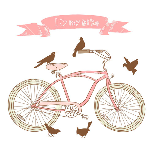 Bike clipart drawn I A Birds And Stock