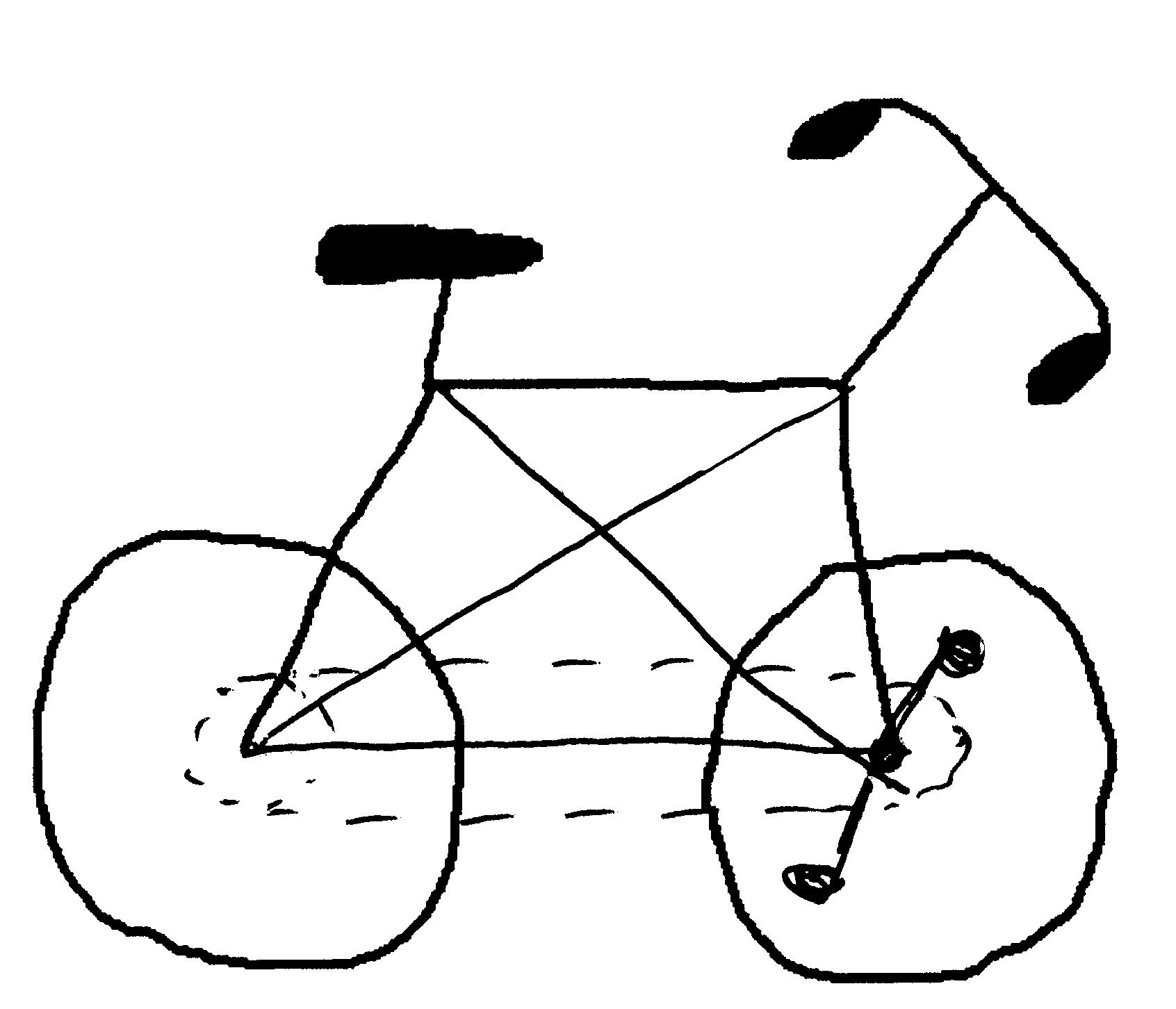 Drawn bike man made #2