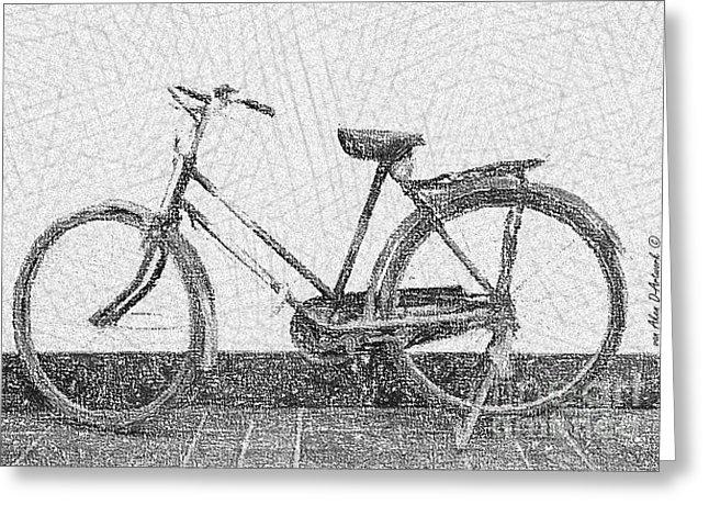 Drawn pushbike old bicycle Greeting Aken Aken Pushbike Card