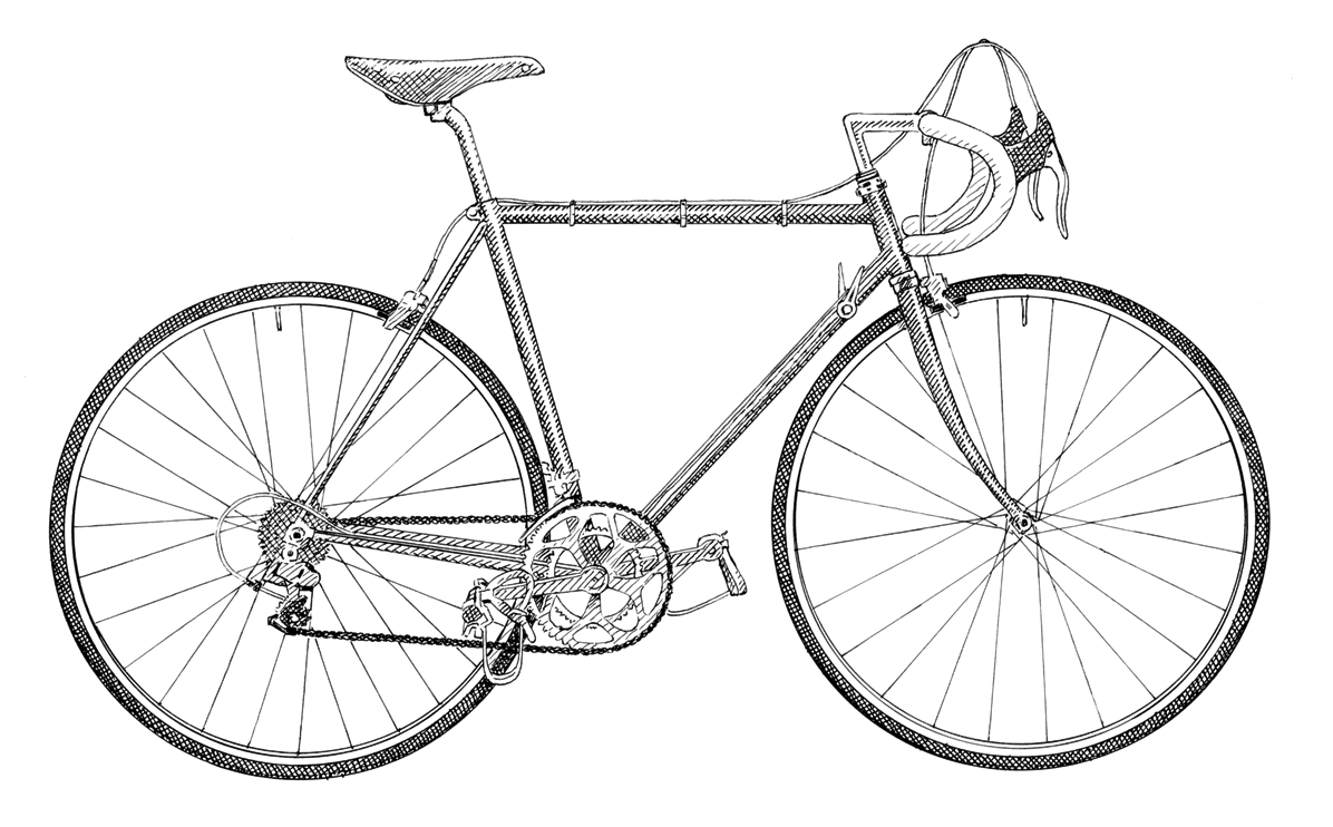 Drawn bike race bike #5