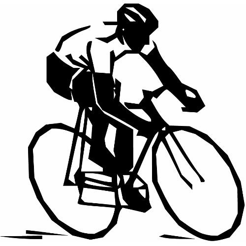 Drawn bike race bike #4