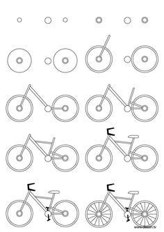 Drawn bike easy To Kids Bicycle Drawing Drawing