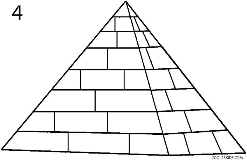 Drawn pyramid Draw How 4 by a