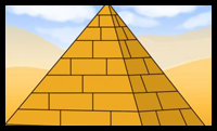 Drawn pyramid Draw How How Shading an