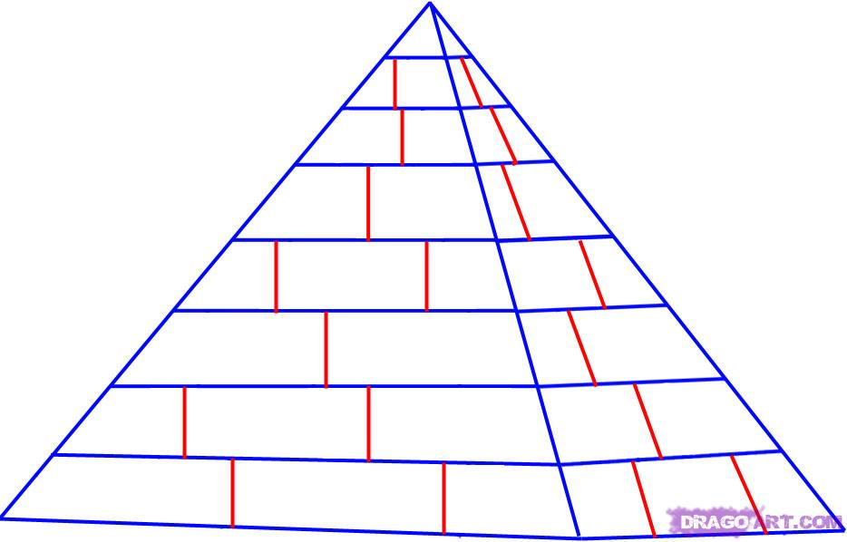 Drawn pyramid Draw Pyramids How 5 3
