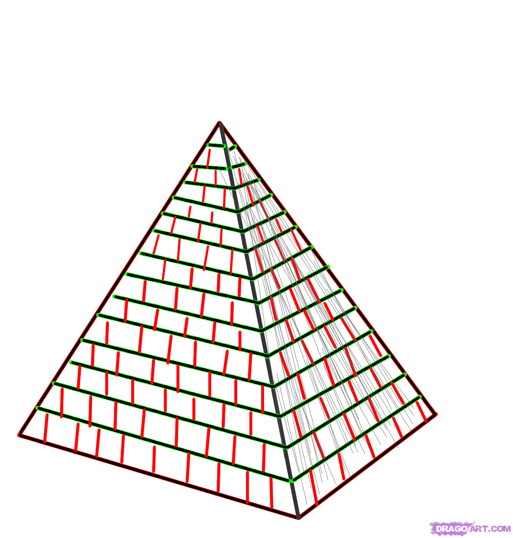 Drawn pyramid Draw How Drawings Pyramids Pyramid